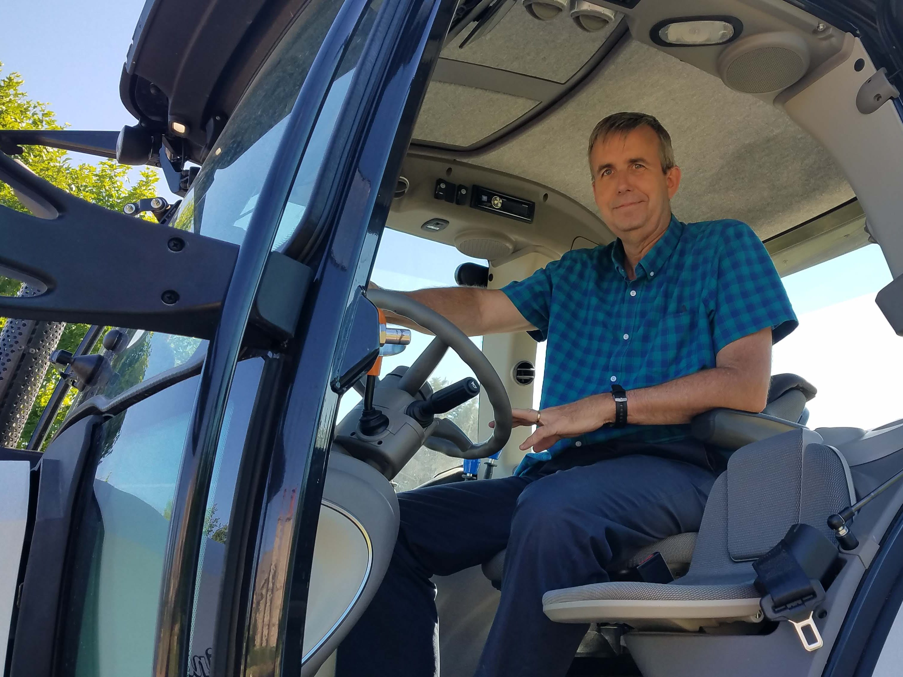 Seats two - just like the Aventador. Detroit News auto critic Henry Payne saddles up the Lamborghini Nitro tractor for farm duty.