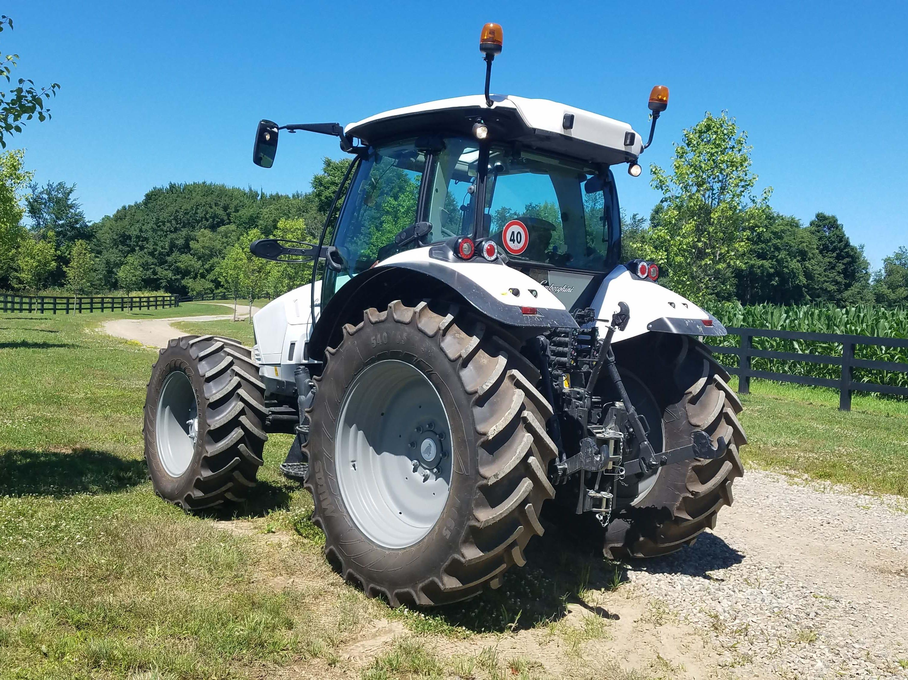 What, no scissor doors? Unlike its Lamborghini Aventador sibling, the Nitro farm tractor has excellent, 360-degree visibility.