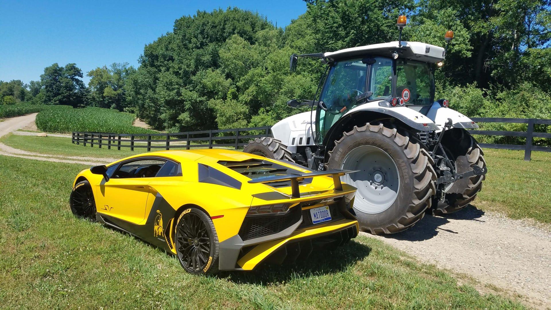 Lamborghini Sports Car And Tractor
