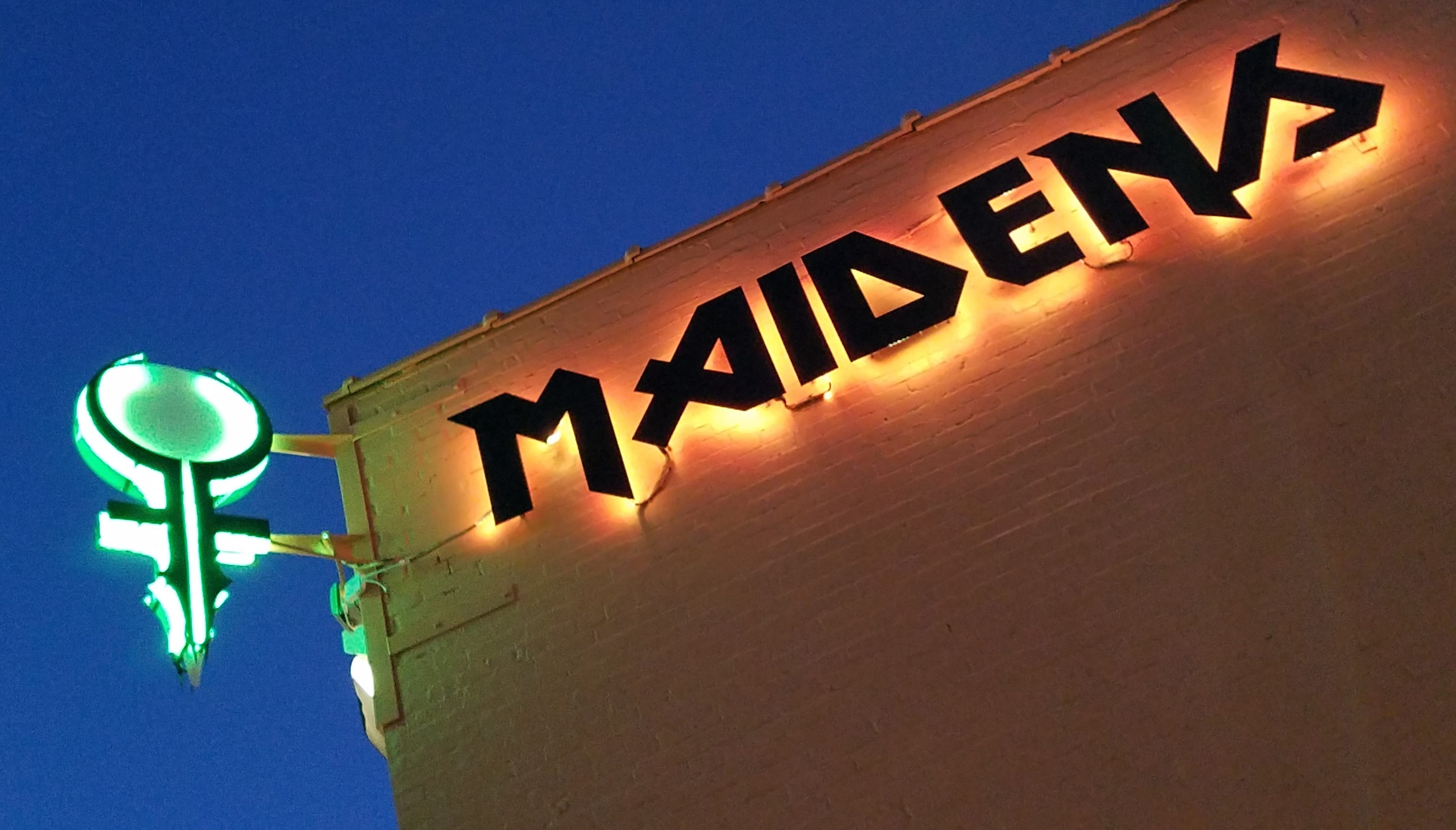 Maidens is located at the corner of W. Franklin and Wabash. Ladies very welcome.