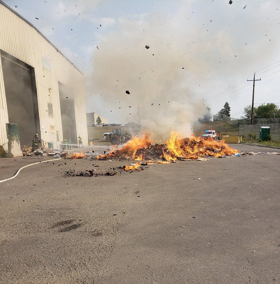 People trying to recycle batteries are causing landfill fires