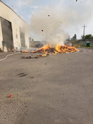 A fire started at the Larimer County Landfill on Monday morning.