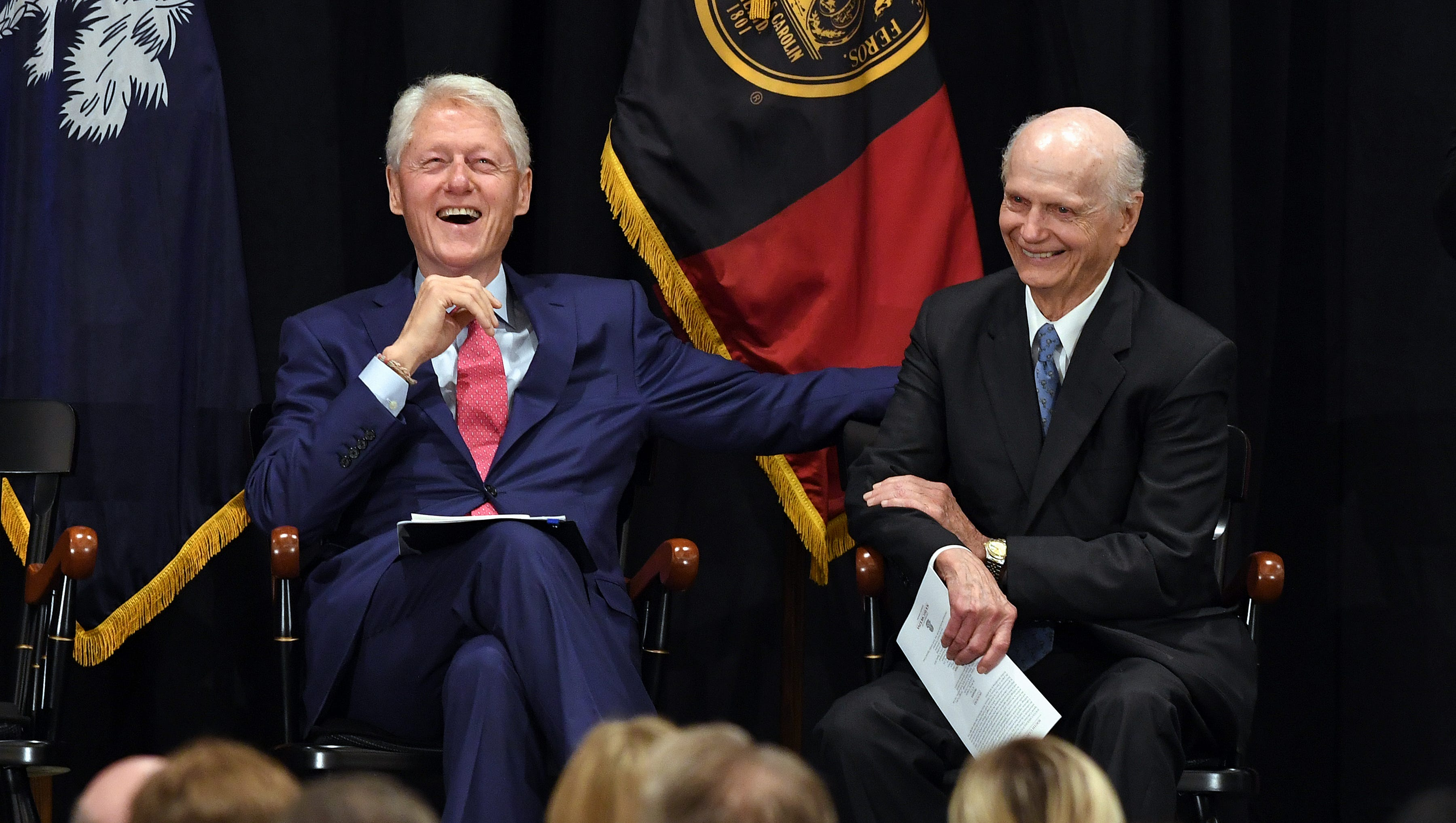 Former President Bill Clinton praises Dick Riley's life, courage and service