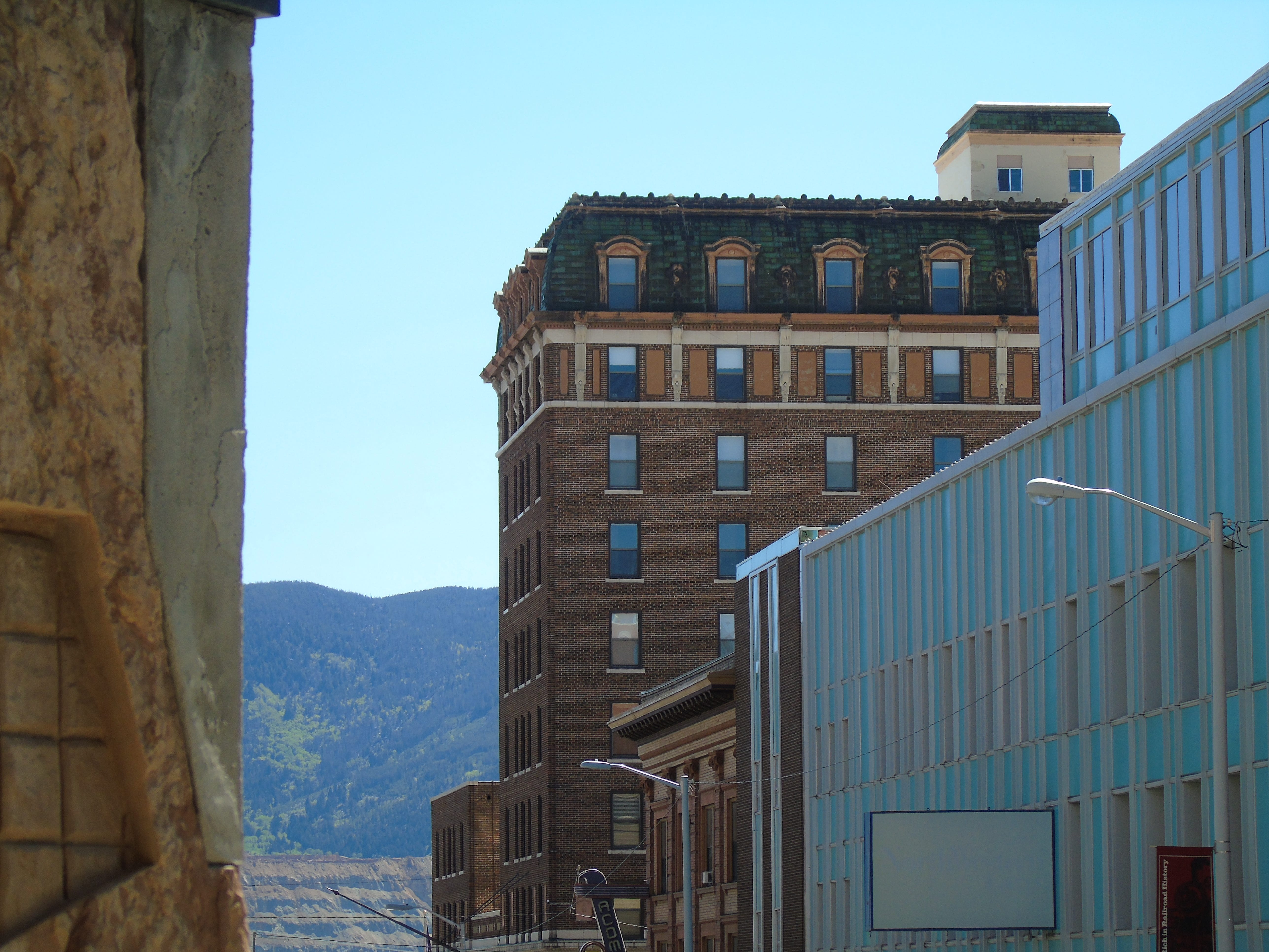 Hotel Finlen is a launching place for easy walks or drives in Uptown Butte. If you can't stay, it's worth checking out the lobby or having a drink at the hotel's bar.