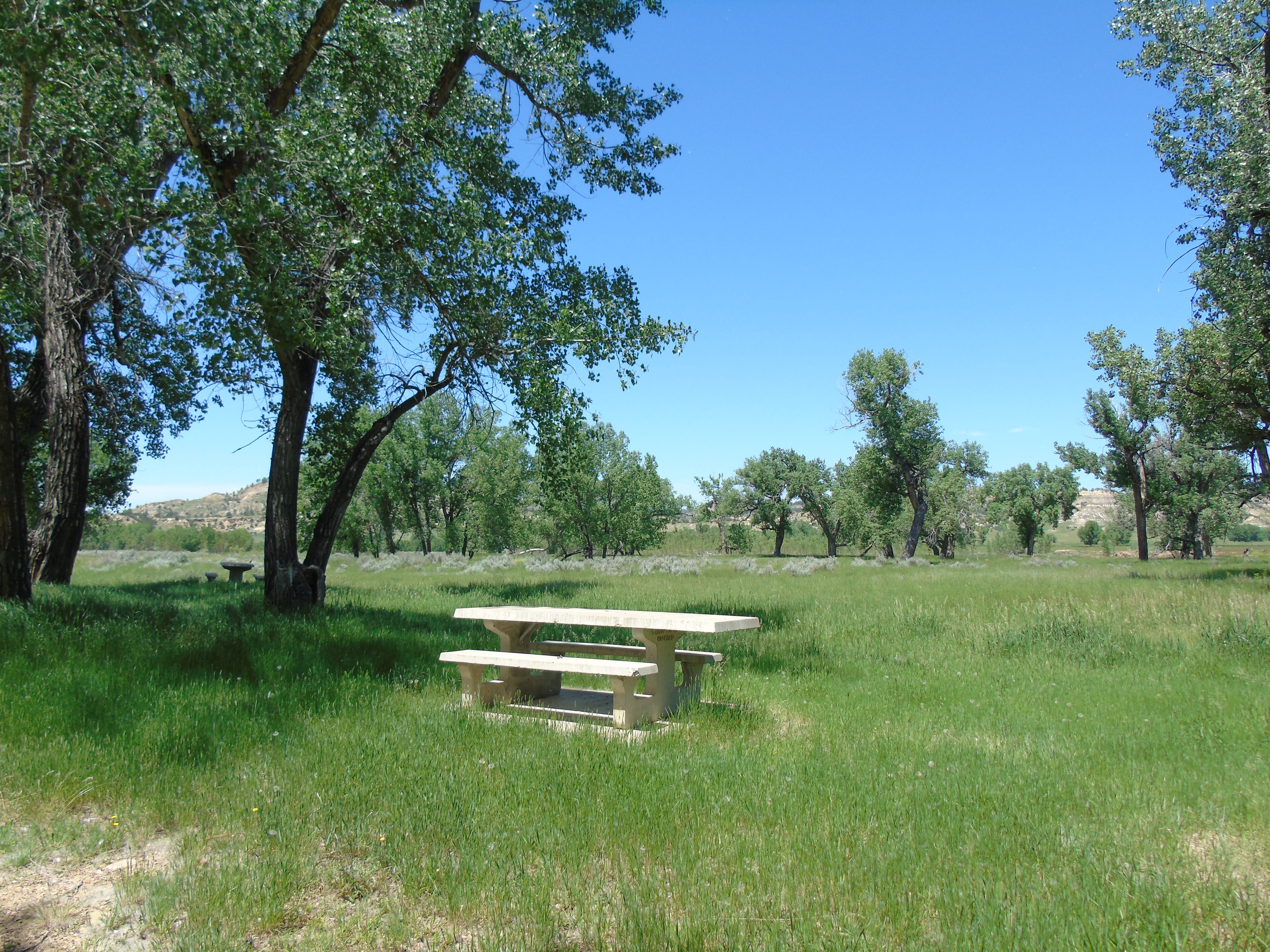 The Moorehead Recreation Area is past Moorehead and just north of Wyoming along the Powder River.