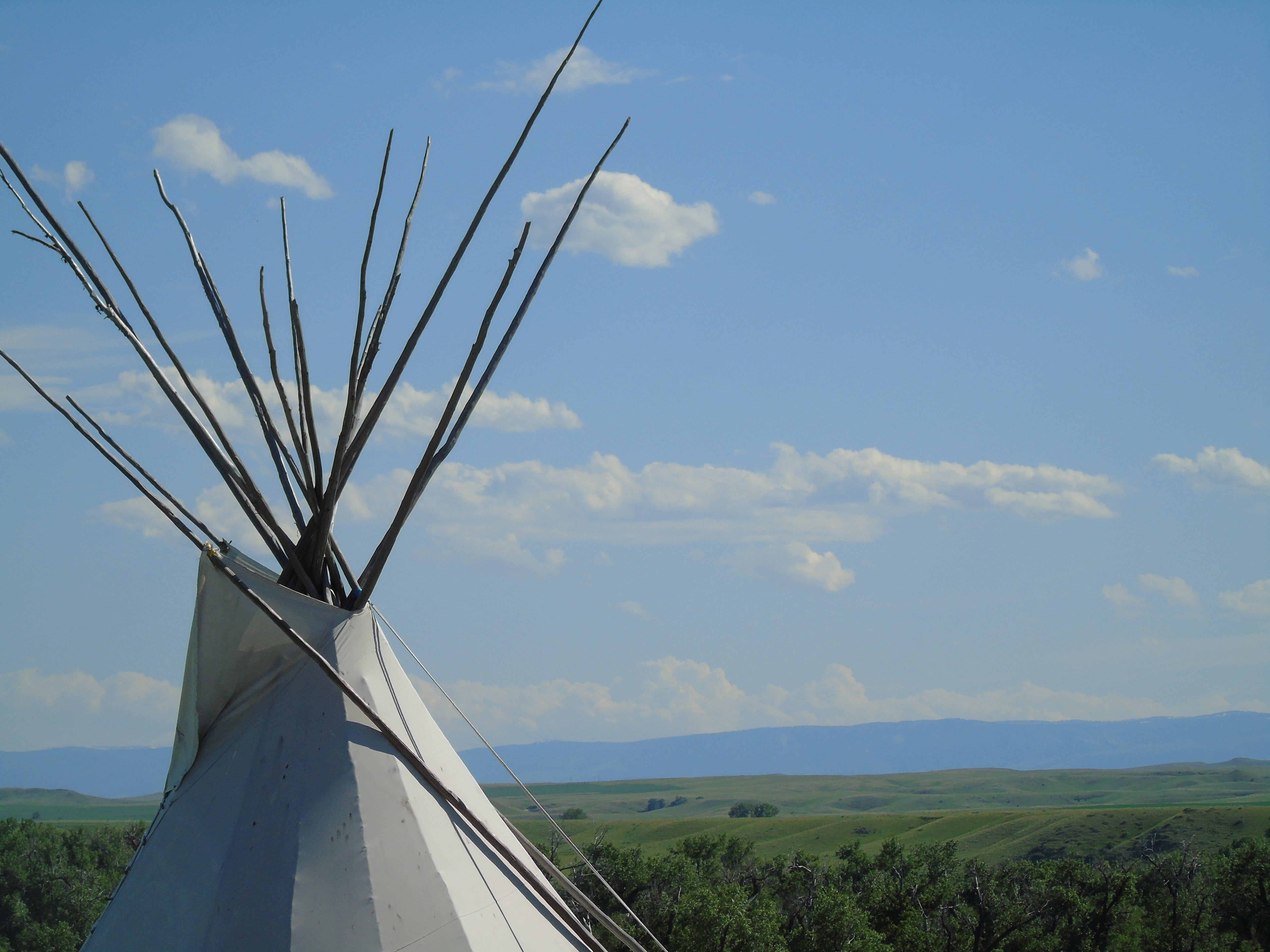 A teepee at the trading post across from the Little Bighorn Battlefield.