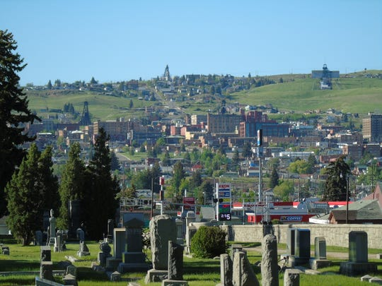 Uptown Butte as seen from Mount Moriah Cemetery.