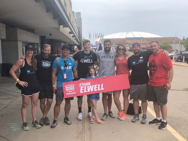 Elwell competes in CrossFit games
