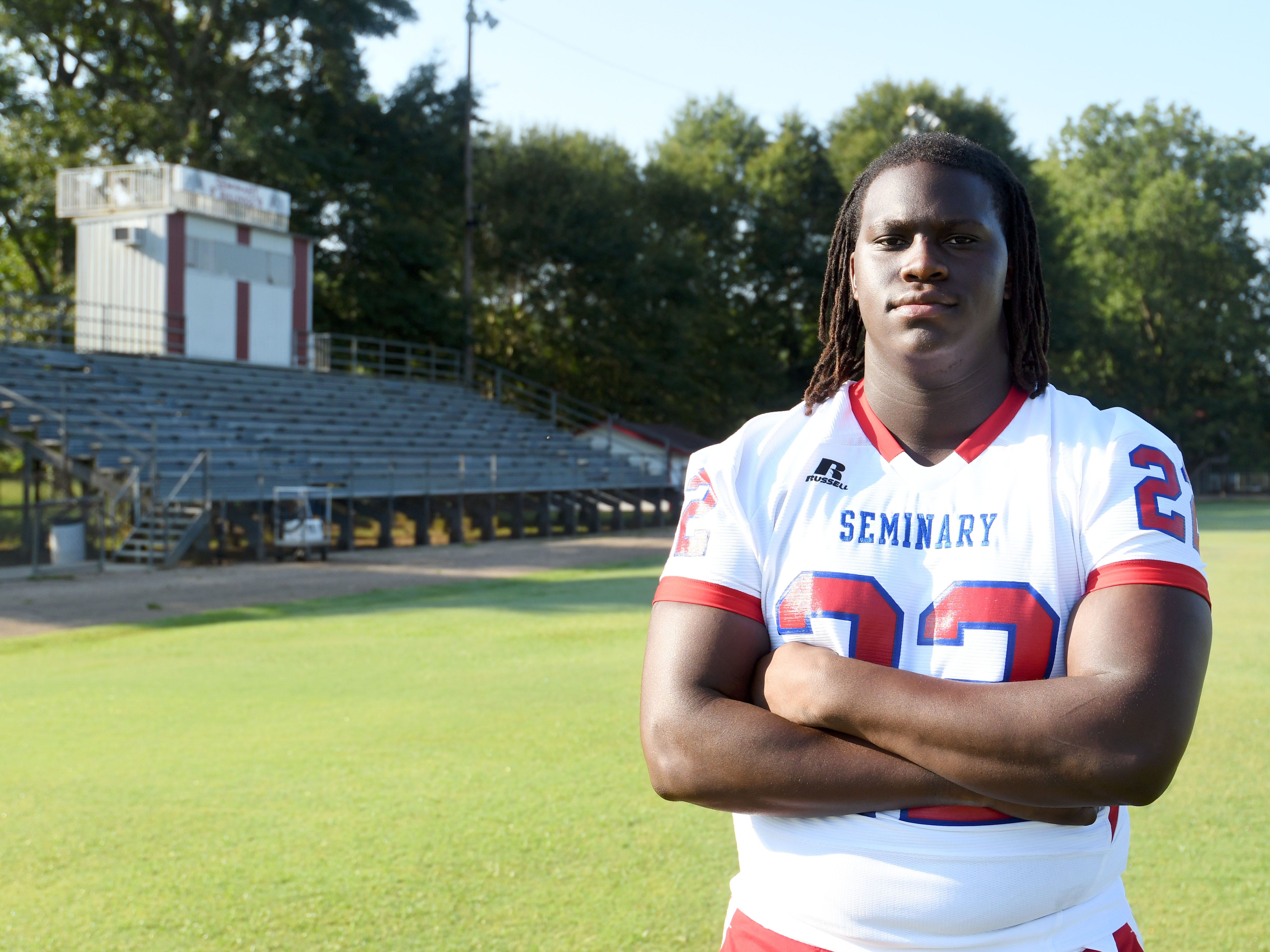 Seminary defensive lineman Nathan Pickering is one of the top prospects in the state of Mississippi.