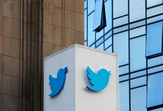 Twitter sign outside company's headquarters