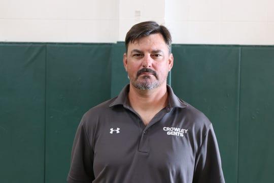 Crowley football coach Jeptha Wall