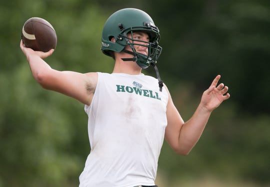 Howell quarterback Matt Hornyak said he prepares like he's still battling for the job.