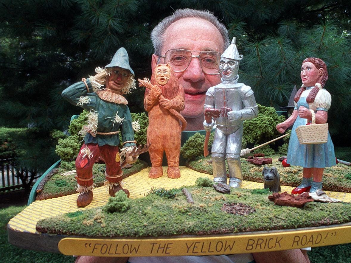 Woodcarver Bill Ehlig plans to enter his creation called ``Follow the Yellow Brick Road'' in Kentucky State Fair competition.