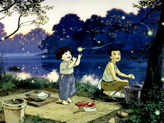 "The Japanese masterpiece ""Grave of the Fireflies"" returns Monday and Wednesday to the Paradiso."