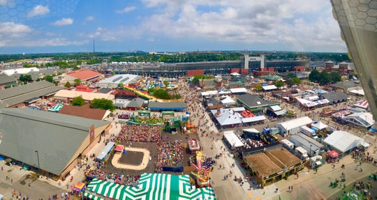 A view of the grounds at Wisconsin State Fair Park.