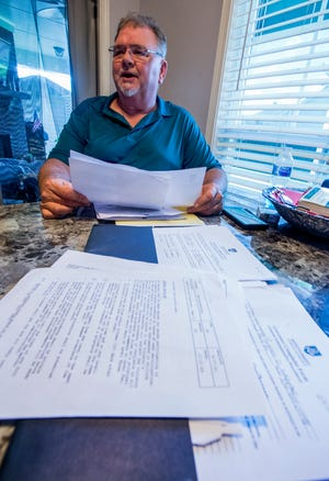 Russell Webster, shown at his home in Montgomery, Ala., on Monday, August 6, 2018, has filed two grievances with his employer, Montgomery Public Schools. He says he has been passed over for promotions, and that each of the four HVAC employees perform the same duties, despite receiving different pay.
