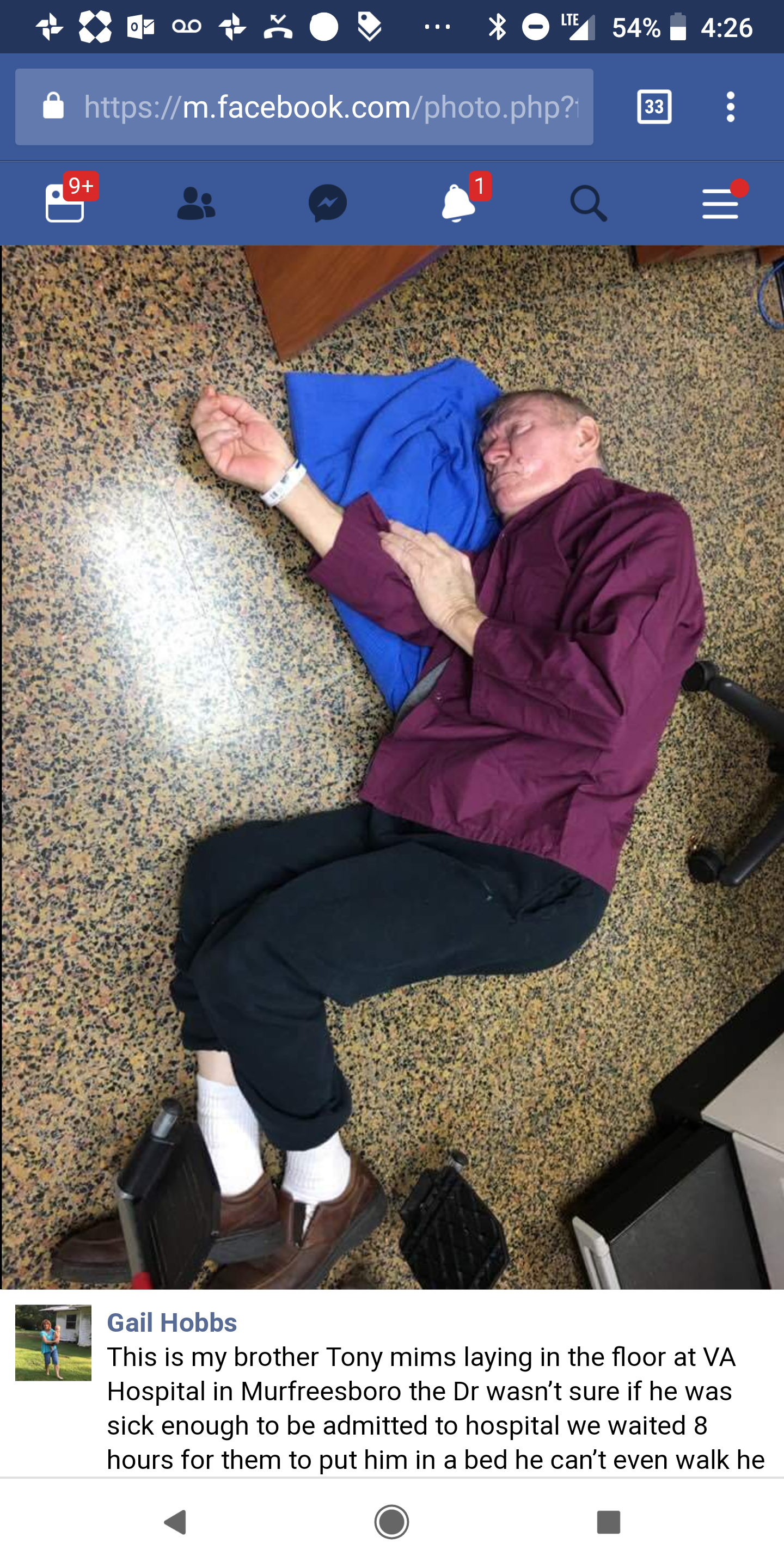 VA: Photo of veteran lying on ground in