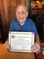 94-year-old Portland native Edgar Claiborne never graduated high school, but received an honorary high school diploma in 2018.