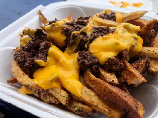 Chili cheese fries from Lucky Dawgs 2 in Golden Gate.