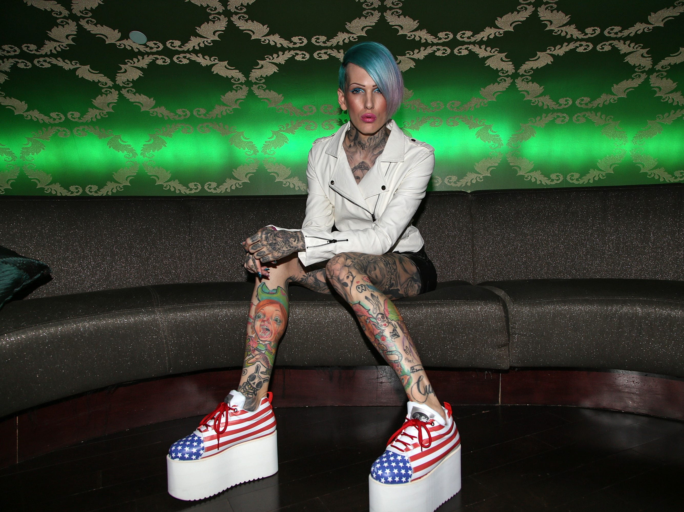 Jeffree Star attends the 2013 Vans Warped Tour Press Conference And Kick-Off Party held at Club Nokia on March 28, 2013 in Los Angeles, California.  (Photo by Paul A. Hebert/Invision/AP)