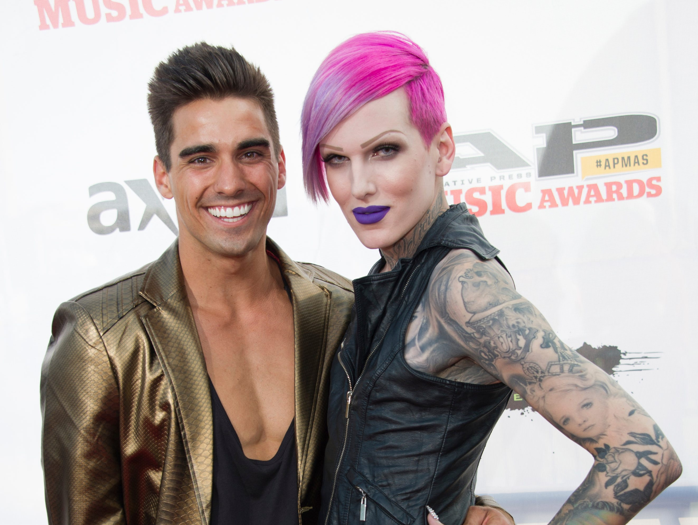 Jeffree Star, right, attends the 2014 AP Music Awards at the Rock And Roll Hall of Fame and Museum at North Coast Harbor on July 21, 2014, in Cleveland. (Photo by Amy Harris/Invision/AP)