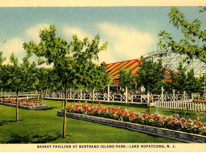 A collection of postcards from the long-closed Bertrand Island Amusement Park in Mount Arlington, N.J. has been digitially preserved on LandingNewJersey.com