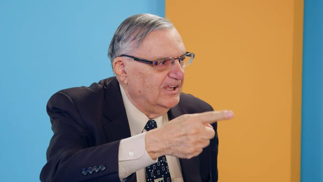 "Joe Arpaio in a still from the fourth episode of Sacha Baron Cohen's ""Who Is America?"""