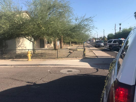 Scene of Phoenix police officer involved shooting