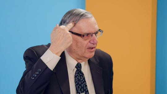 """Joe Arpaio in a still from the fourth episode of Sacha Baron Cohen's """"Who Is America?"""""""