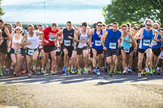 Runners begin the 35th running of the Dutchess County Classic on Sept. 13, 2015.