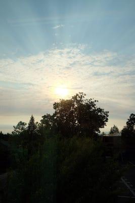 wildfire hazy skies salem