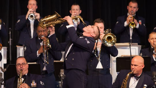 Rhythm in Blue Jazz Band consists of 15 people from trumpet players to a singer traveling the East Coast of America.