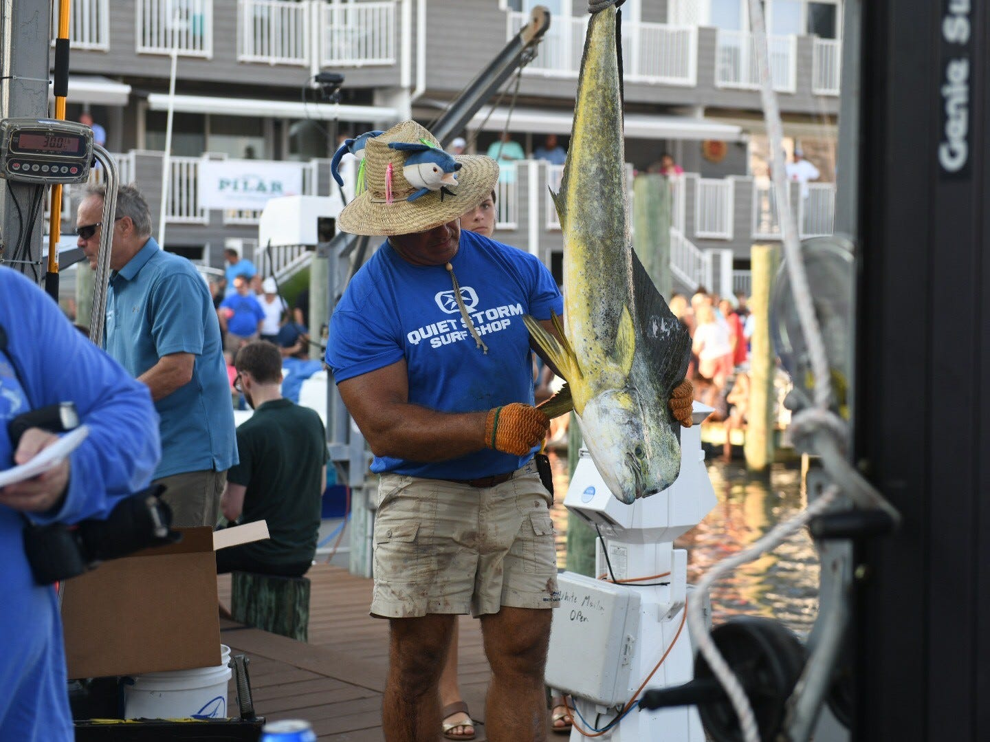 The 45th annual White Marlin Open kicked off Monday with lots of action. There are 382 boats with 319 going out Monday.