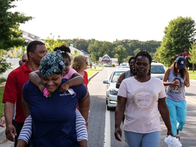 "Residents from West Rehoboth and throughout Sussex County gathered on August 4, 2018, to remember Coley ""Pete"" Marchtmon, who died in 2008 after being brutally beaten by a group of men while on his way home from work. These peace marches were held annually for 10 years as an effort to heal the community and prevent retaliation."