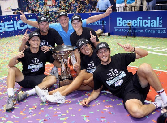 The Springfield Lasers won the World TeamTennis Western Conference championship in Philadelphia last year.