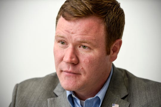Attorney general candidate Doug Wardlow talks about his campaign Monday, Aug. 6, in St. Cloud.