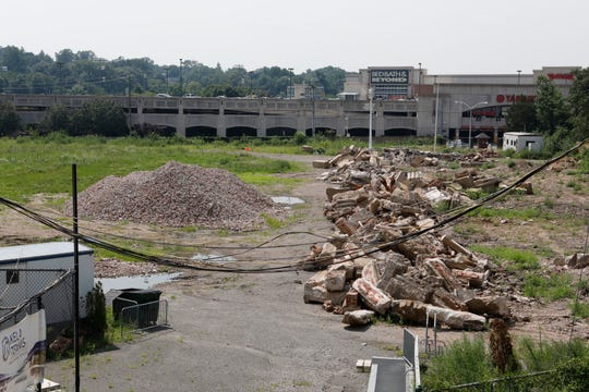 The demolished stands at Memorial Field in Mount Vernon on Aug. 6, 2018.