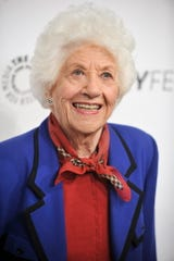 "Charlotte Rae arrives for ""The Facts of Life"" reunion on Sept. 15, 2014, in Beverly Hills."