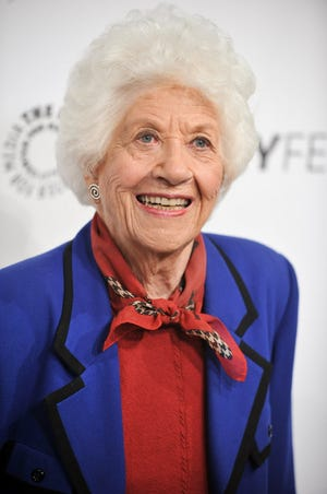 """Charlotte Rae arrives for """"The Facts of Life"""" reunion on Sept. 15, 2014, in Beverly Hills."""