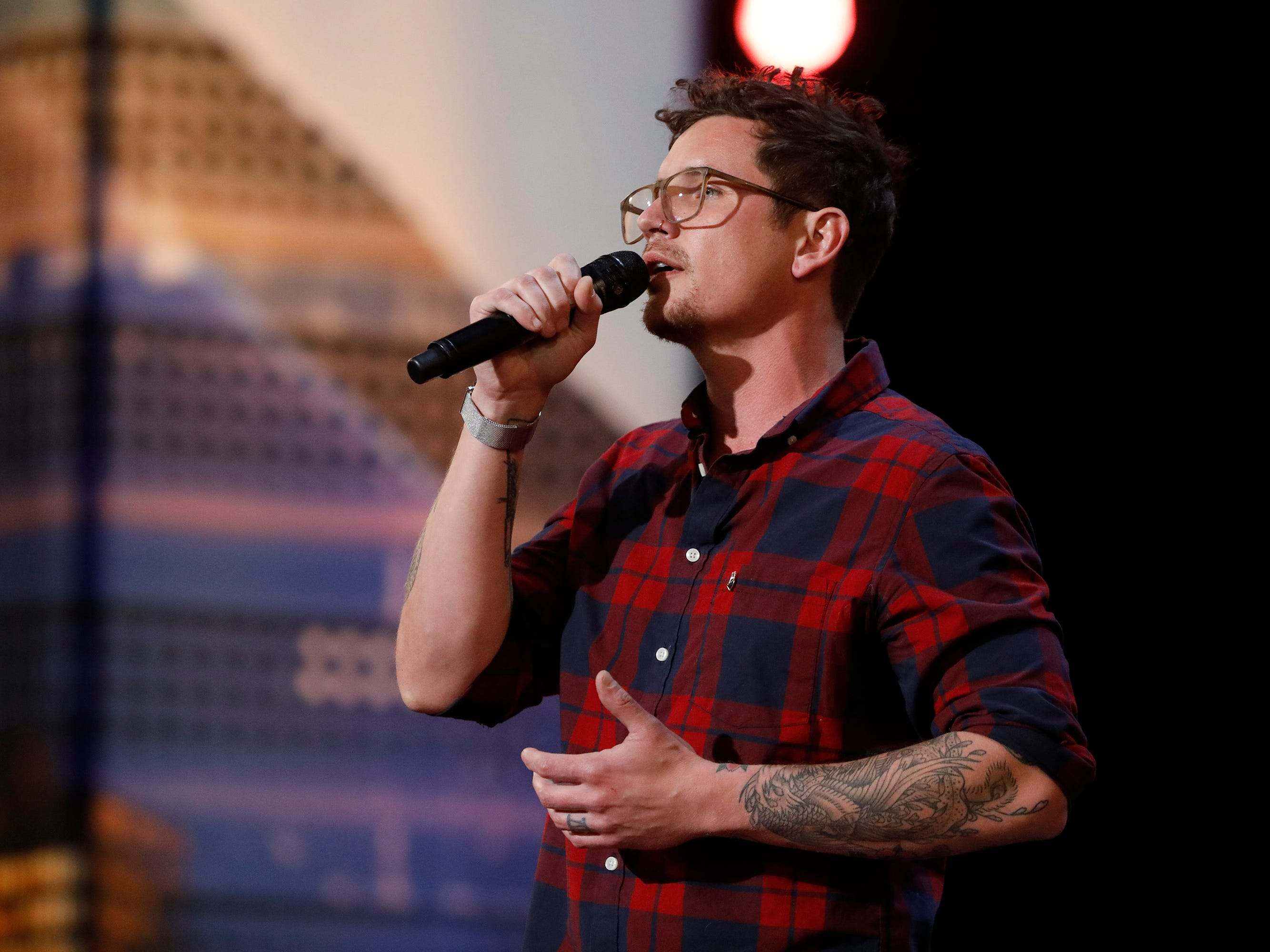 Singer Michael Ketterer earned Simon Cowell's Golden Buzzer