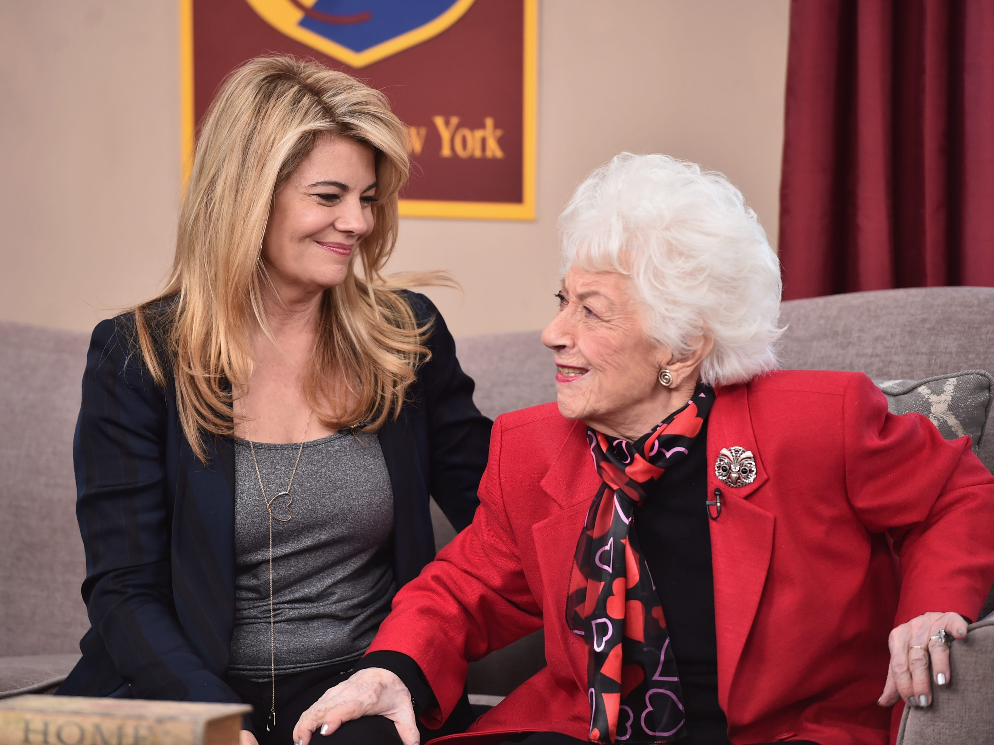 "Lisa Whelchel, left, and Charlotte Rae attend Hallmark's Home and Family ""Facts Of Life Reunion"" at Universal Studios Backlot on Feb. 12, 2016, in Universal City, Calif."
