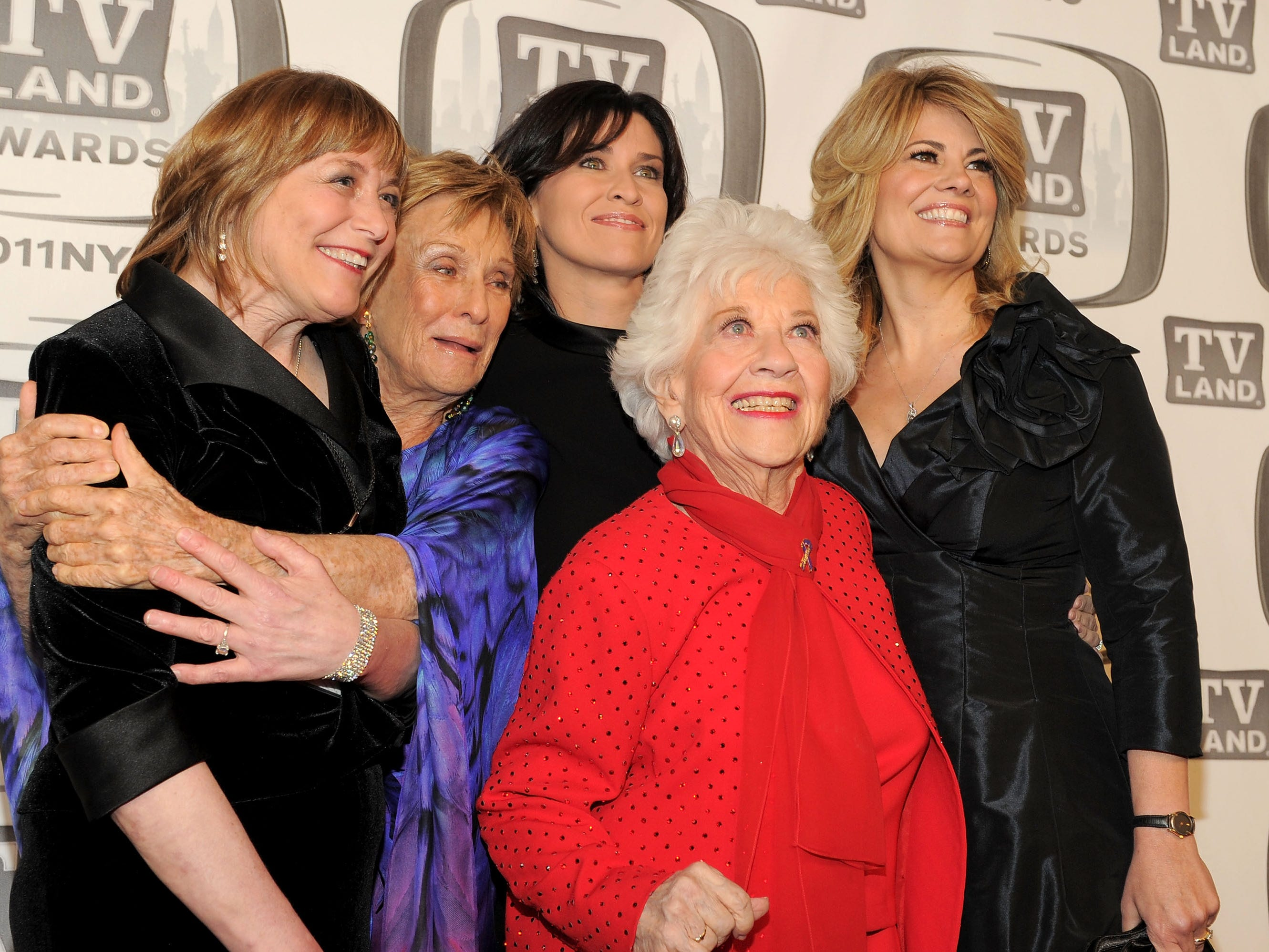 Geri Jewell. Cloris Leachman, Nancy McKeon, Charlotte Rae and Lisa Whelchel attend the 9th Annual TV Land Awards at the Javits Center on April 10, 2011, in New York.