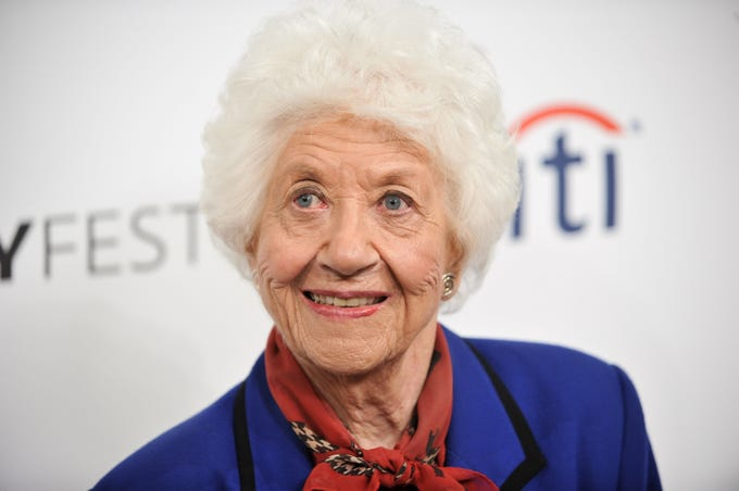 "Charlotte Rae arrives at the 2014 PALEYFEST Fall TV Previews - ""The Facts Of Life"" Reunion on Sept. 15, 2014, in Beverly Hills, Calif."