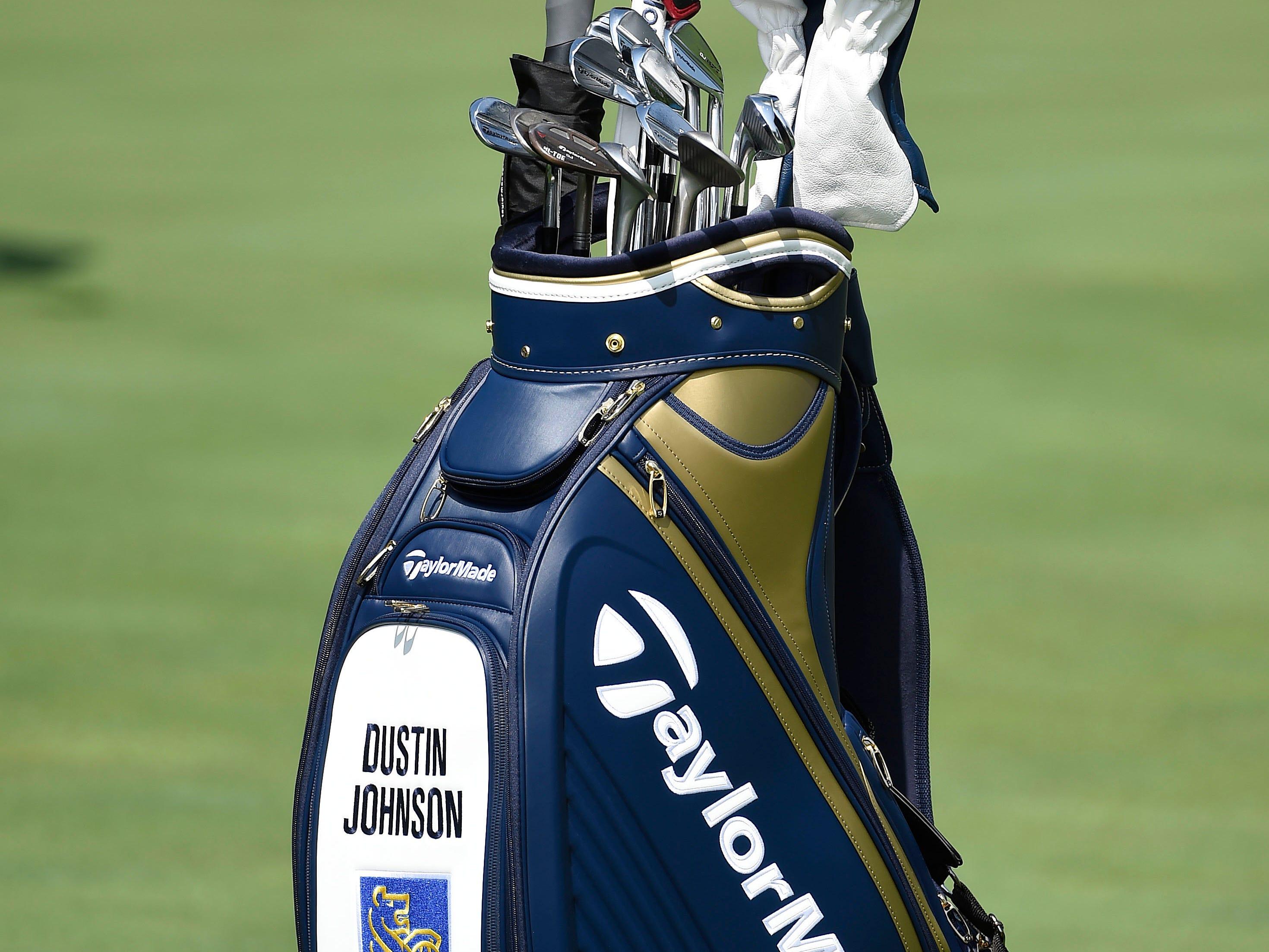 Dustin Johnson's bag.