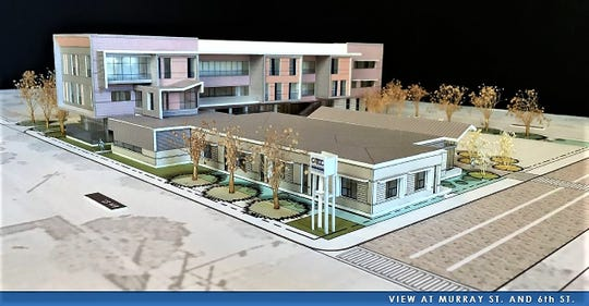 A rendering of Central Louisiana Technical Community College's new campus in downtown Alexandria.