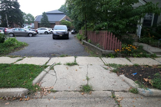 The pictured driveway once lead to the first house Springsteen lived in at 87 Randolph Street., which is one of the three homes Bruce Springsteen grew up in, in Freehold, NJ Tuesday August 7, 2018.