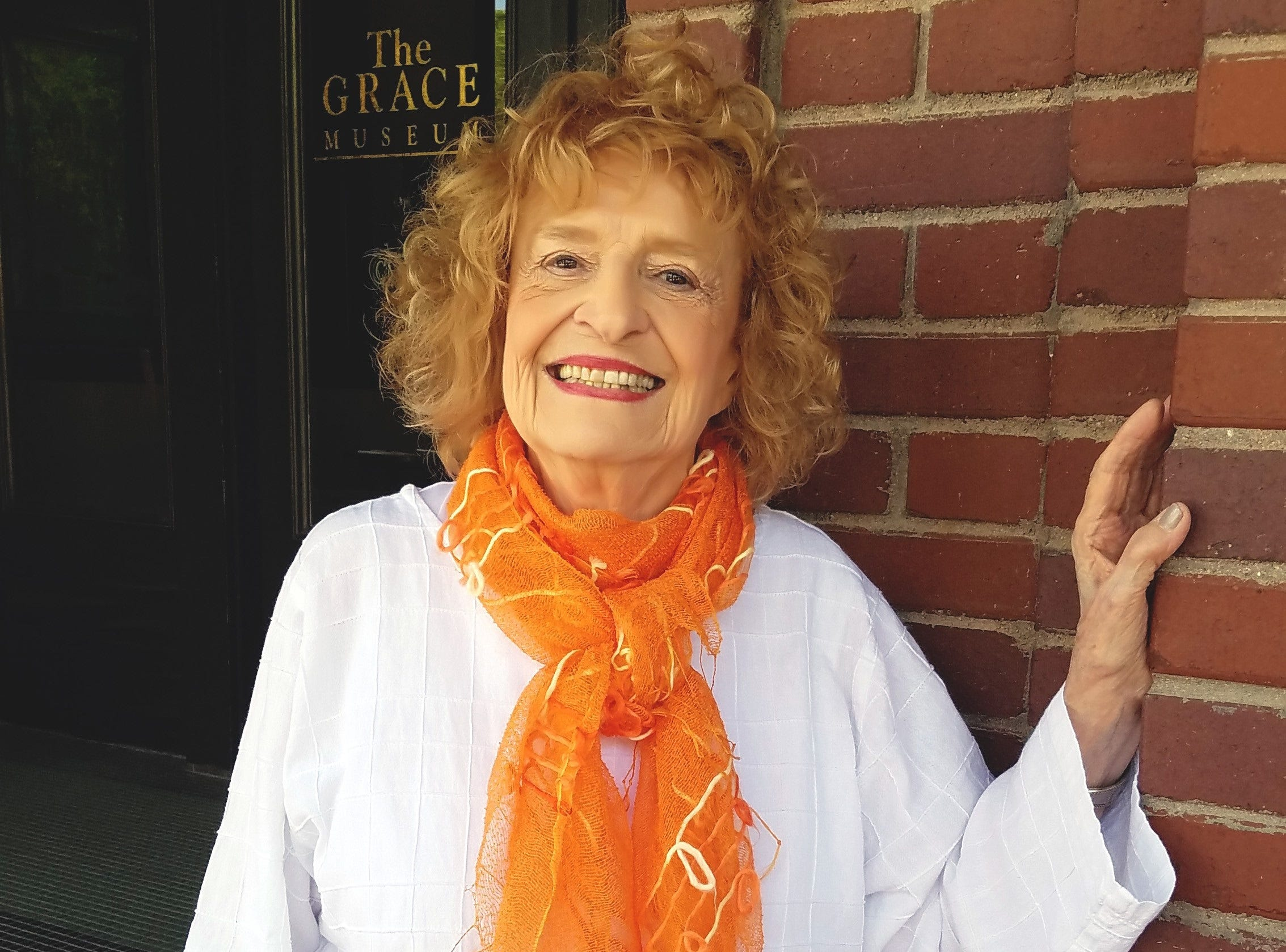 Martha Kiel, outside The Grace Museum, where she took students as an art teacher and later has served as a board member.