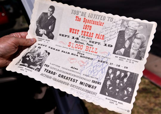 A flyer given to Michael Lee Fink while he was recovering from at West Texas Medical Center in 1970. Fink was the hospital's first open-heart surgery patient, the flyer was signed by Roy Rogers and Dale Evans with whom Fink had been acquainted with and who were staying in a nearby hotel at the time.