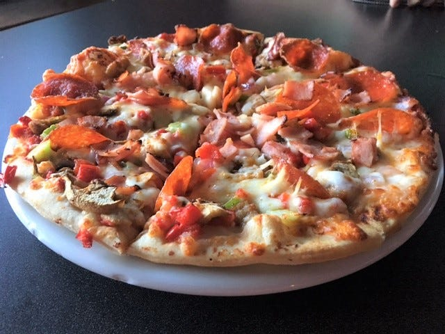 Pizza is one of the main draws, including the Everything But The Anchor Pizza as NEDS on Gull Lake will deliver to your boat or you can eat in