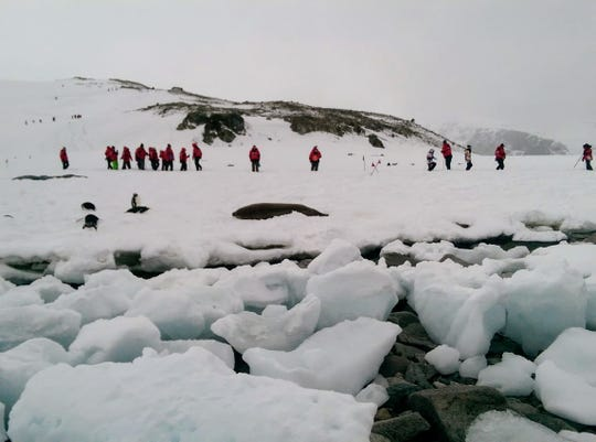 Scenes from a trip to Antarctica.